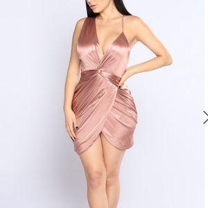 FASHION NOVA Got Me Twisted satin dress